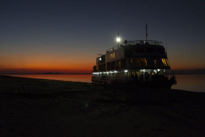 The MV Mahabaahu at Sunset
