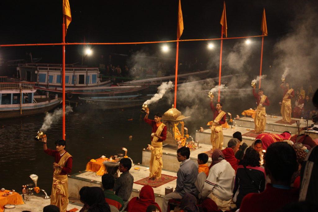 Varanasi, ganga aarti