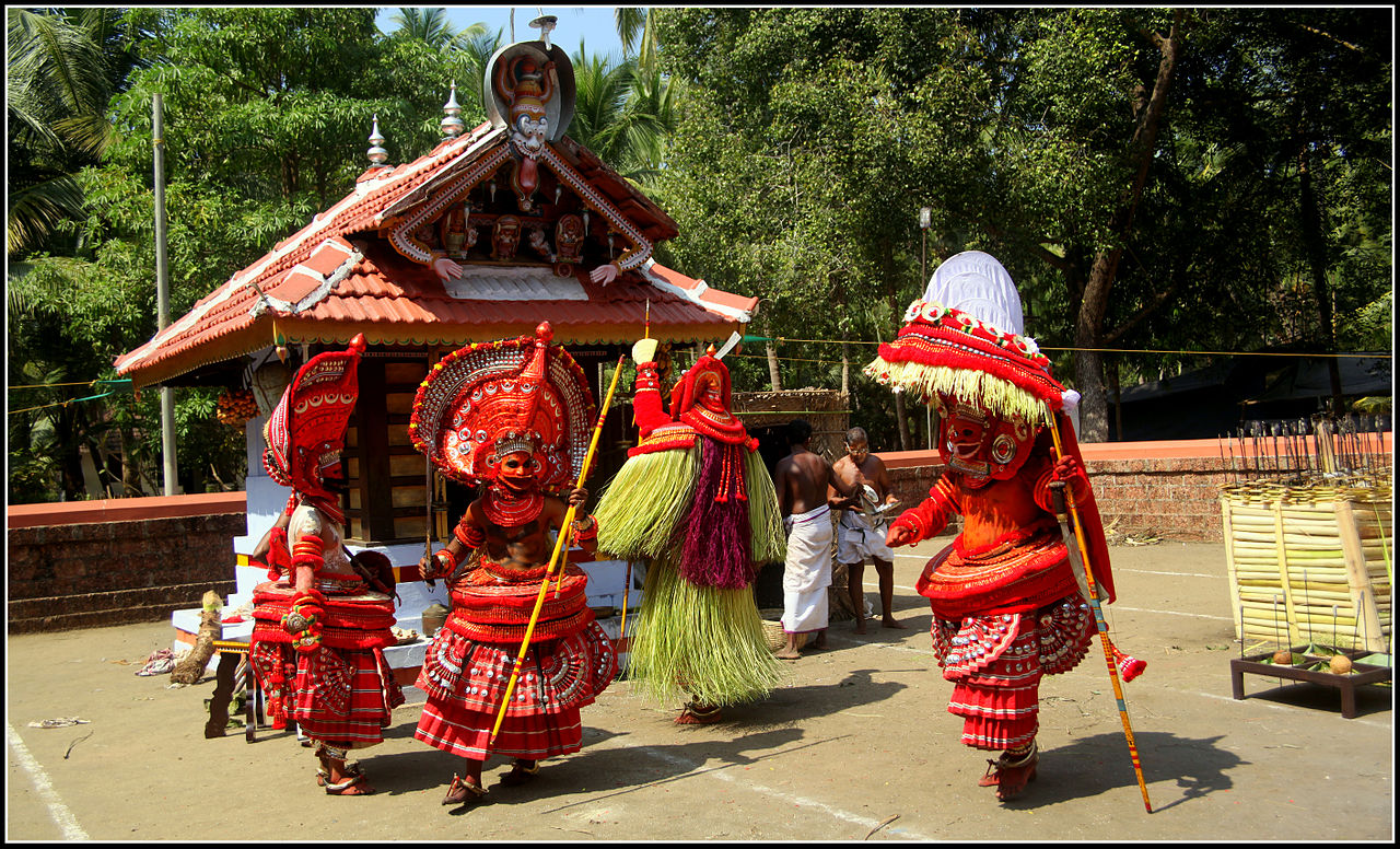 Theyyam Performance Courtyard